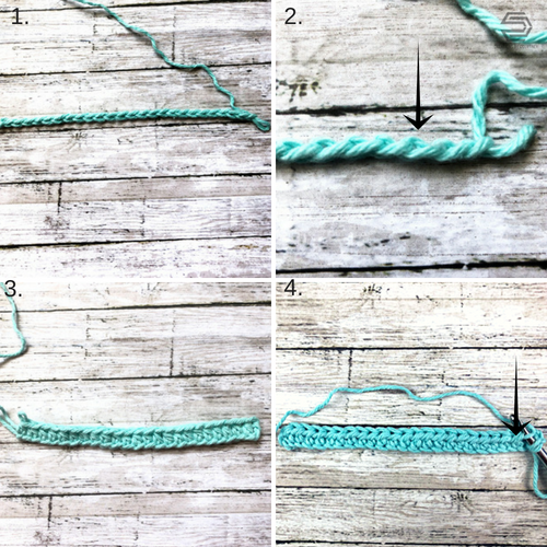 HDC ribbing stitch tutorial