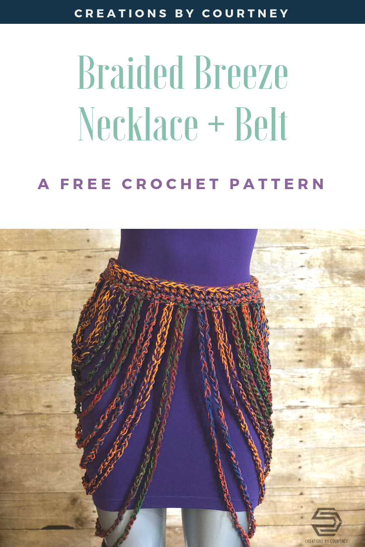 Braided Breeze Necklace + Belt, a free crochet pattern