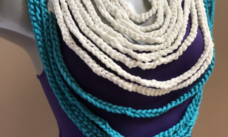 Braided Breeze Necklace Belt Free Crochet Pattern