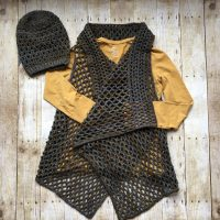 Airy Vee Slouch paired with Draped in Diamonds Vest