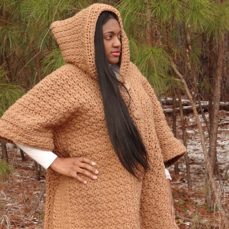 crochet hooded poncho