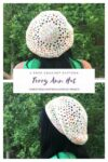 The Terry Ann Hat is a free crochet pattern that uses a small amount of DK weight yarn, or your favorite worsted weight yarn.