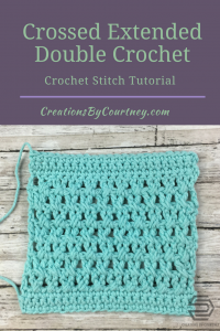 Crossed extended double crochet tutorial