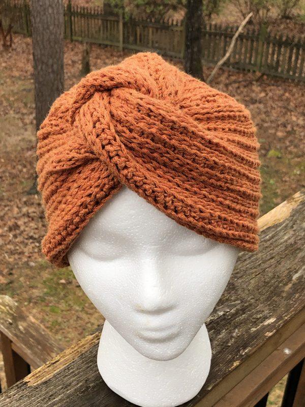 Terresa Turban, a crochet pattern for sizes Preemie through Adult Large