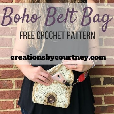 The Boho Belt Bag is a free crochet pattern that offers style and function. You can wear it with your favorite belt, or attach an adjustable strap.