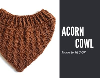 The Acorn Cowl is a free crochet pattern of C2C and front post extended stitches. It's written to fit a wide range of sizes, and fit under outerwear.