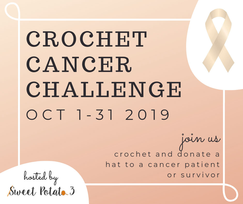 The 5th Annual Crochet Cancer Challenge is looking to receive 50K pledges to make a hat to be donated to cancer patient or survivor. How many hats will you make?