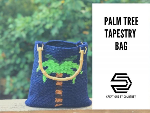 The Palm Tree Tapestry Bag is a great stash busting crochet pattern. You'll learn how to neatly change colors, and create a double-sided accessory to carry summer all year long.