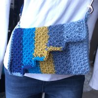 Tunisian Honeycomb Purse| Creations By Courtney