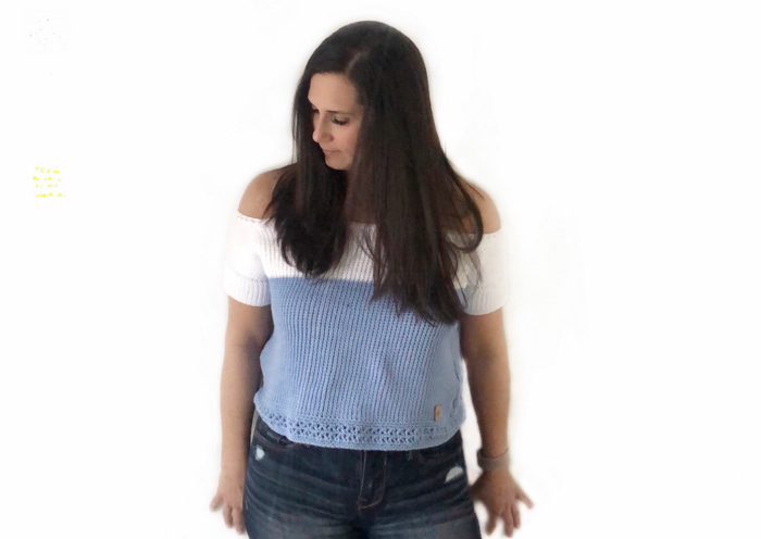 Beginner Tunisian Crochet Top - Free Pattern by dmk_crochet