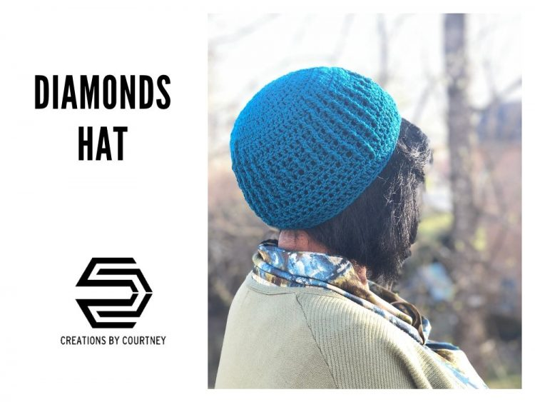 Surround your crown in diamonds created with extended post stitches. This is an intermediate crochet pattern available in three sizes.