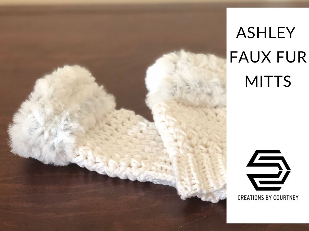 The Ashley Faux Fur Mitts are super stylish with texture and fur. Available in three adult sizes.