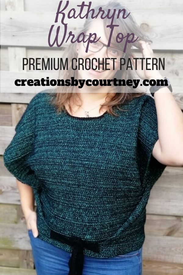 The Kathryn Wrap Top is a size-inclusive crochet pattern. This is a perfect layering piece for spring and summer over a dress or with jeans.