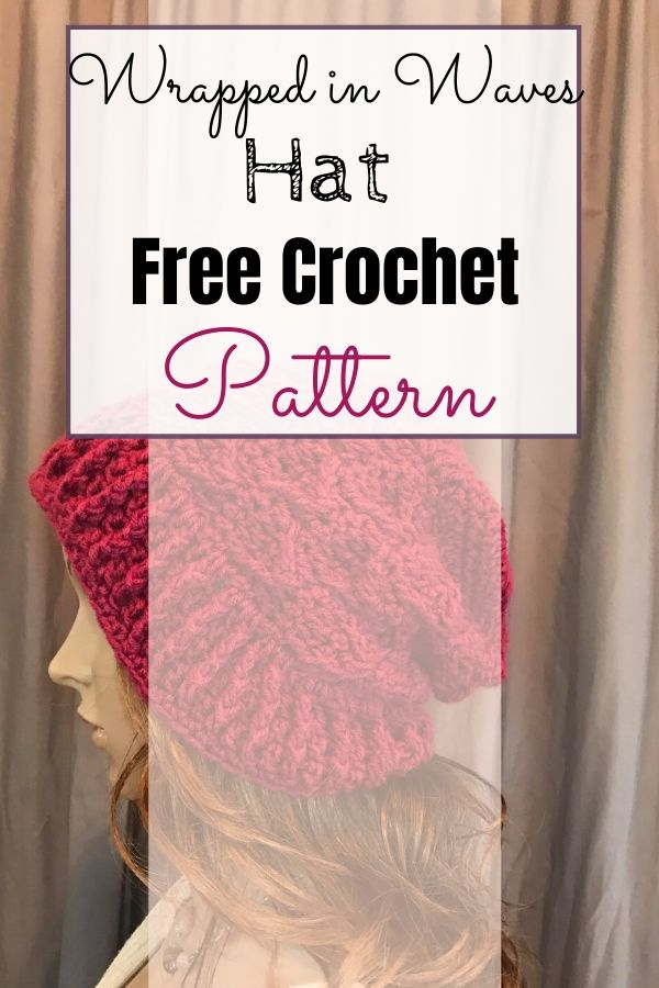 The Wrapped in Waves Bonnet + Hat crochet pattern is an intermediate project that uses post stitches and JAYGO. #freecrochetpattern #crochethat #crochetbonnet
