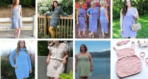 A collection of crochet dress patterns to fit different styles for women and children.