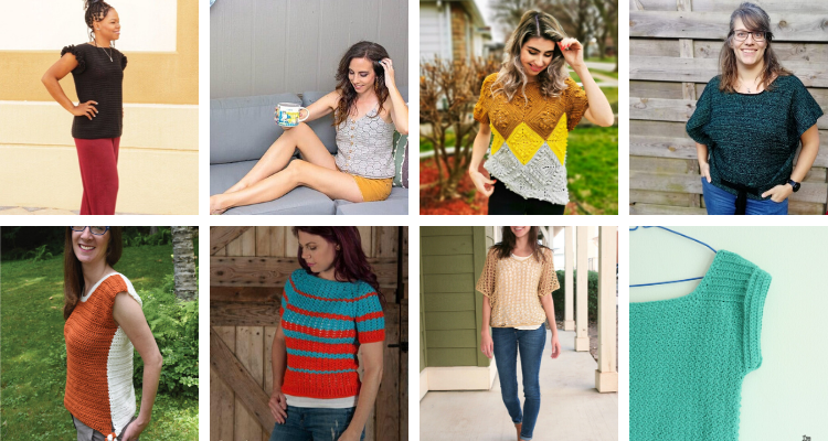 A collection of 22 crochet tops that pair perfectly with your favorite jeans or skirt.