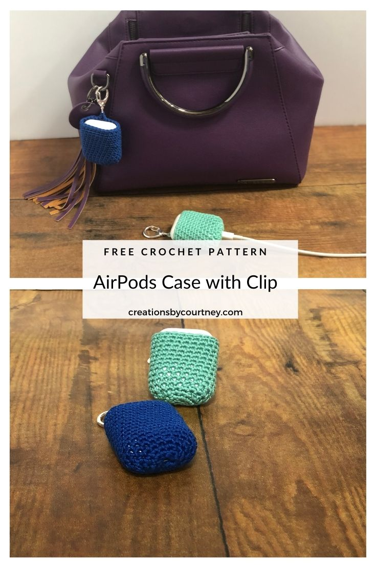 The Crochet AirPods Case with Clip is a quick project that only requires 15 yds of sport weight yarn. The clip will help you attach the case to a belt loop, a key ring, or in a bag. Make a few to match your favorite bags and to gift year round.