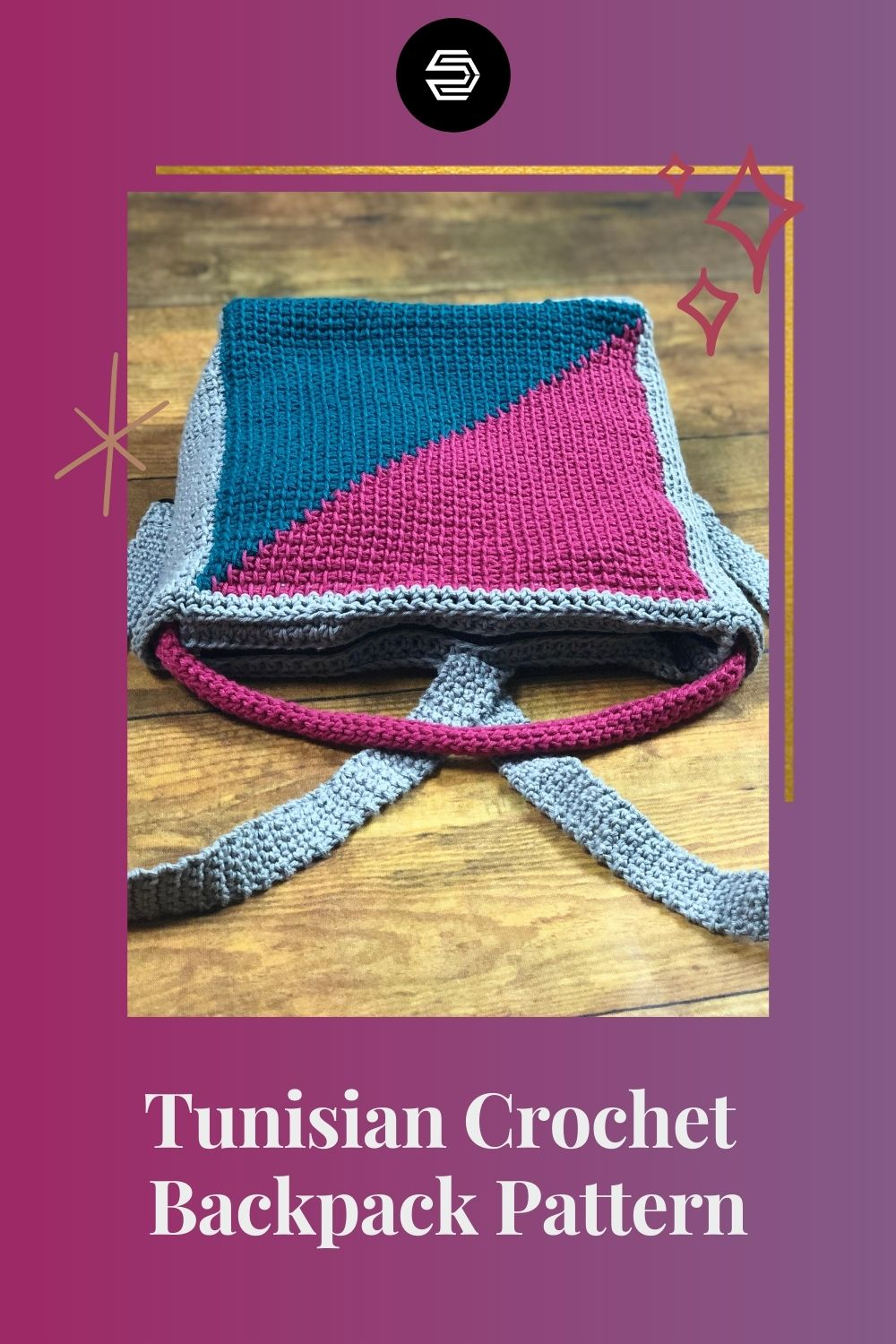 Learn how to create a tunisian crochet backpack with a neat color change. You will also learn how to seam the sides as you create the body of the bag. Grab 150 yards of three worsted weight yarns to make a stylish medium sized bag.