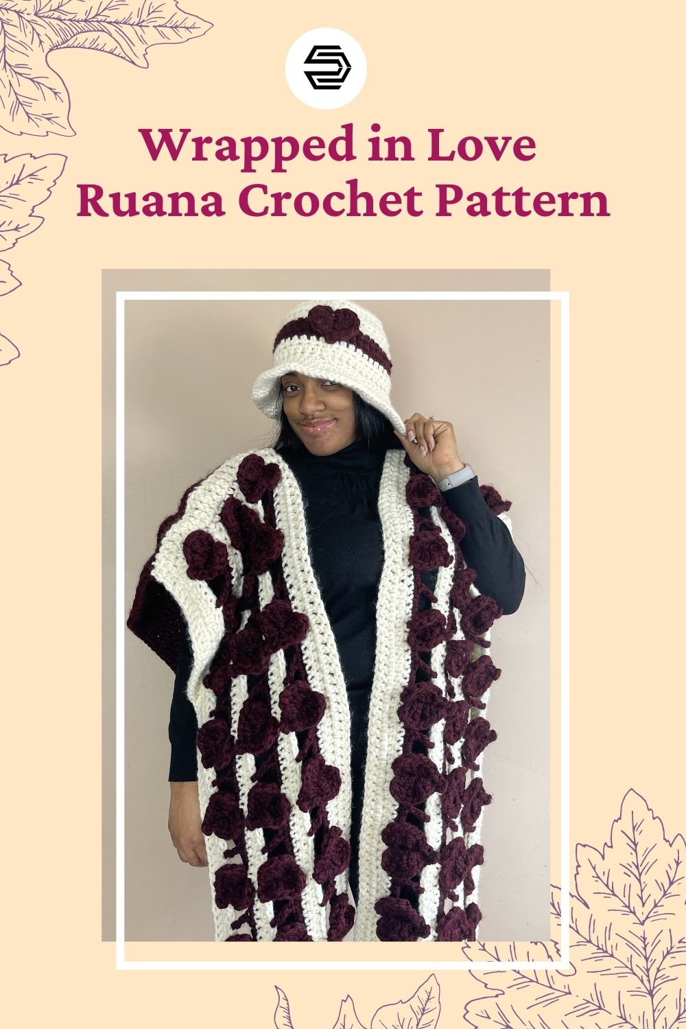 Wrap yourself or your bestie with love in every stitch of the Wrapped in Love Ruana. Inspired by Valentine's Day, but can add a touch of elegance to any outfit on a chilly day. This crochet ruana patterns features a large heart for the back, and rows of floating hearts on the front. With the extra length at the front, easily wrap for added warmth.