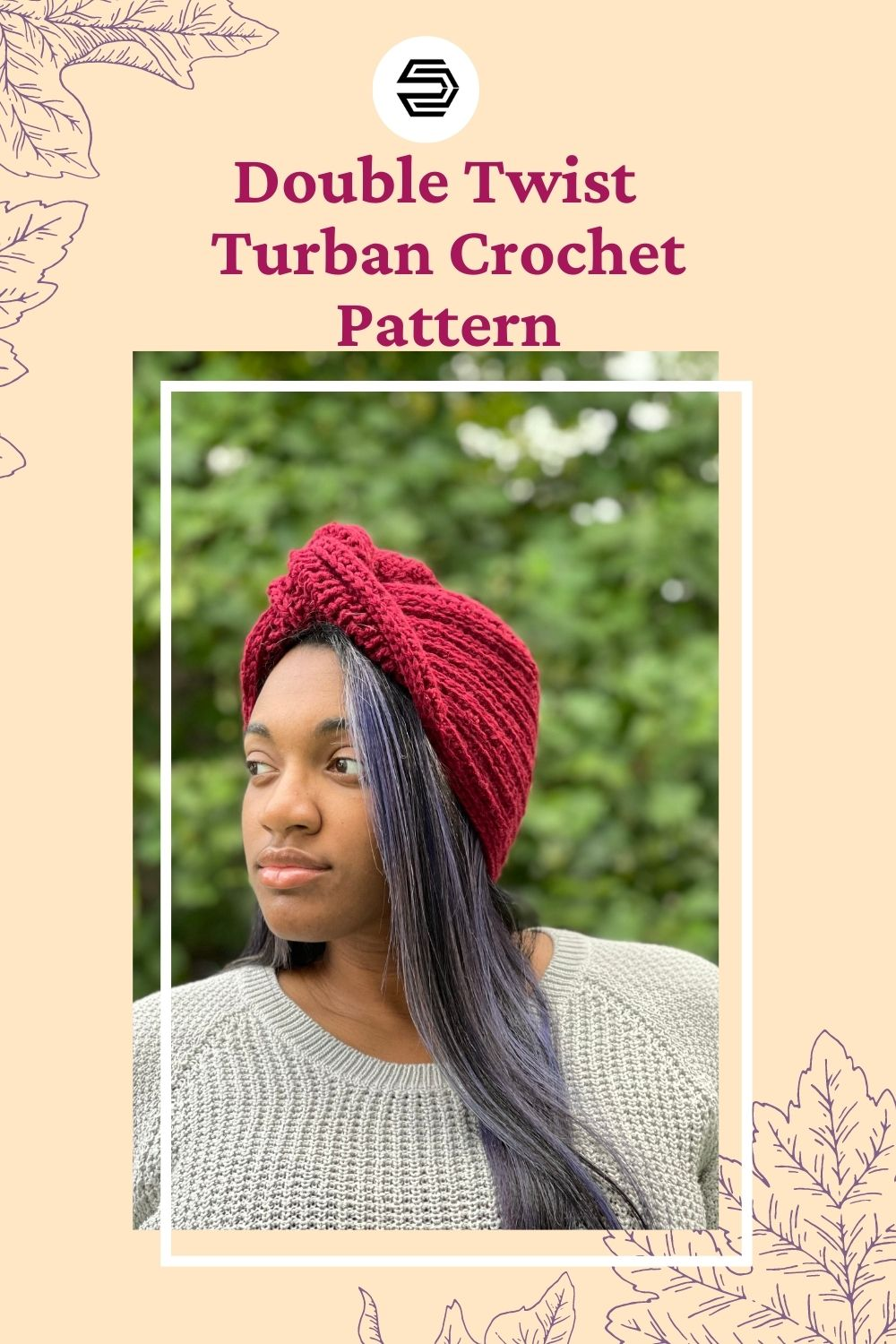 The Terresa Turban offers lots of style in this easy to make hat. With sizing from preemie to adult, the whole family can be stylish. Grab the color coded PDF that includes a tutorial for how to perfectly twist your turban, and your favorite worsted weight yarn. #creationsbycourtney #freecrochetpattern
